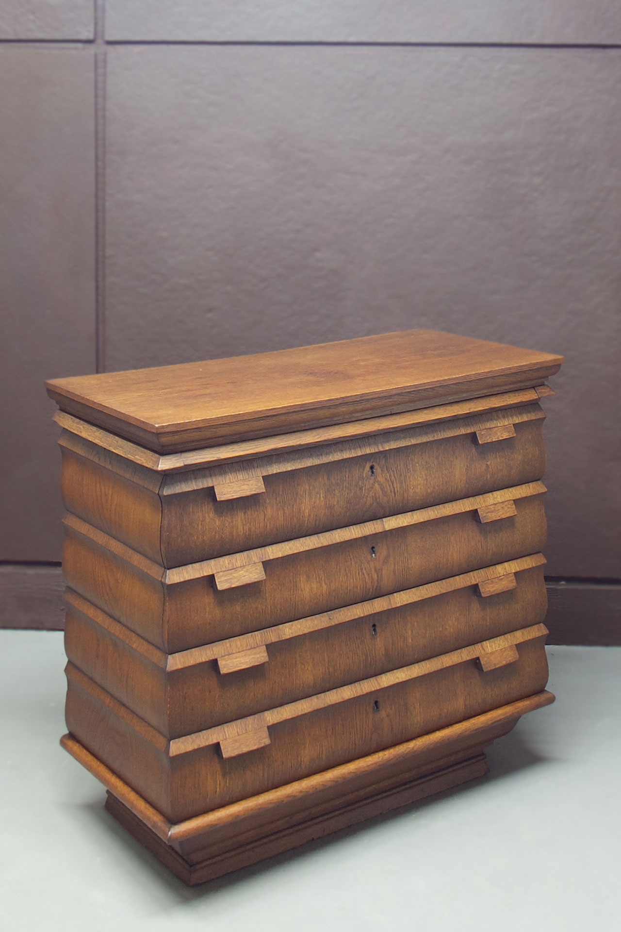 An expressionist rococo chest of drawers