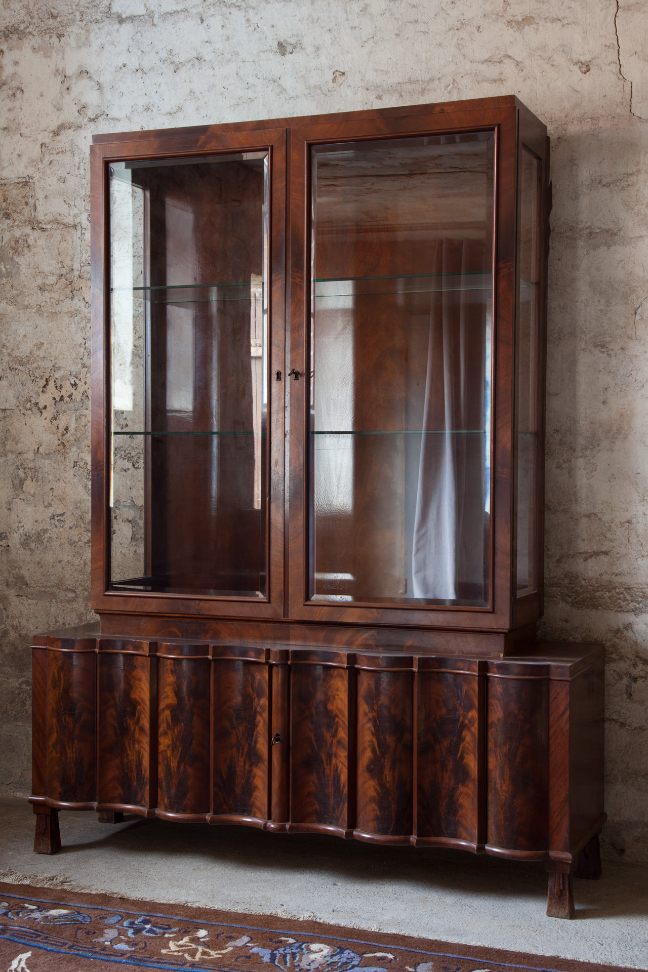 A display cabinet by Bruno Paul