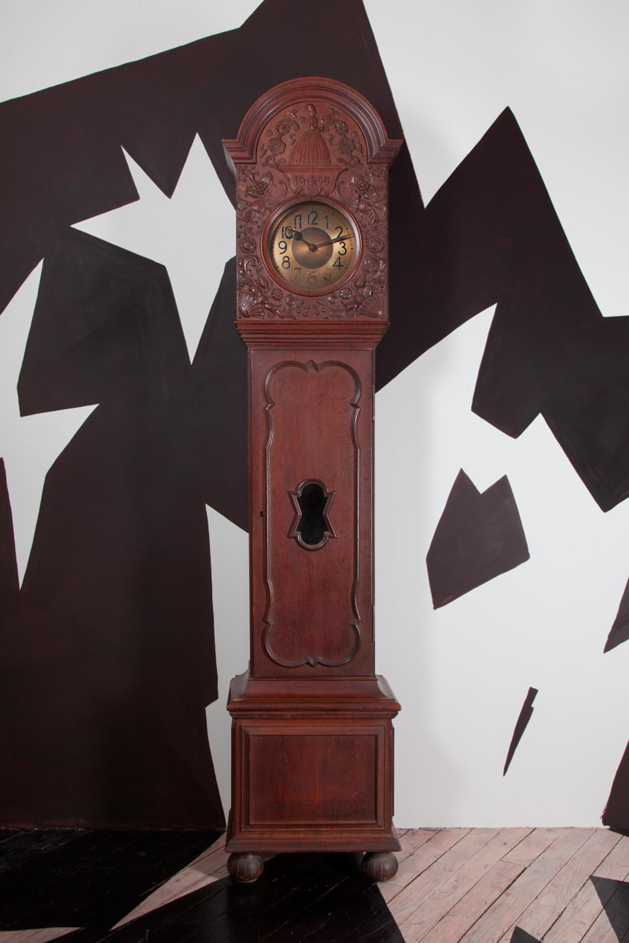 A tall case clock attributed to Eduard Pfeiffer
